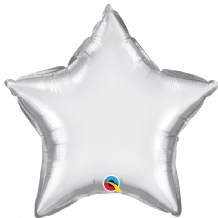 "Silver Chrome Foil Balloon (20"" Star) 1pc"